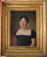 """DELAPLACE Jacques (1767-1831) """"Portrait de madame, 1812"""" Empire Napoléon"""