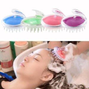 Shampoo Scalp Massage Hair Brush 4pc Soft Silicon Comb Head Slimming Bath Shower