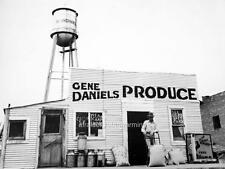 """Old Photo Blanchard OK """"Produce Store & Water Tower"""""""