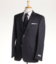 NWT $2395 CANALI 1934 3-Piece Dark Gray Woven Pindot Wool Suit 40 R Classic-Fit