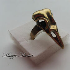Bellatrix Lestrange bronze crows head ring deathly hallows sytherin Volemort