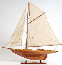 "31.5"" x 28.5"" Eric Tabarly's Pen Duick Sailboat Built Wood Model Yacht Assembled"