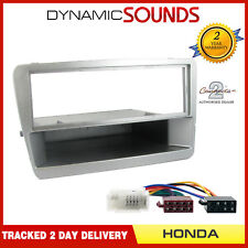 HONDA Civic EP2 EP3 2001 to 2005 Silver Single Din Fascia Fitting Kit Panel Lead