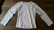Maillot T-shirt manches longues Blanc 6 ans décoration scintillante