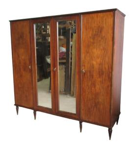Armadio vintage quattro ante con specchio  - modernariato - anni 50 60