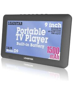 "LEADSTAR 9"" Digital portable TV LCD DVB-T2 ATSC ISDB 12V Car TV"
