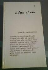 Robert Morel ADAM ET EVE Pour les marionnettes