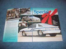 """1984 Dodge Daytona Vintage Pro Street Article """"Special K"""""""