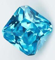 10x10MM 6.69CT AAAAA Natural Square Sea Blue Zircon Diamonds Cut VVS Loose Gems