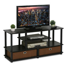 "Wooden TV Stand with Drawers - Up to 50"" Screen - Black and Brown"