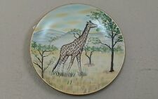 Giraffe Porcelain Wildlife Wall Decor Beautifully Hand-Crafted 10 1/4 ""