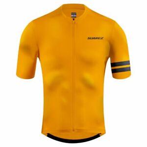 2021 Suarez Ambar Mens Short Sleeve Cycling Jersey in Orange