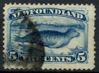 Newfoundland 1880-1894, 5c Blue, Seal Used #D44447