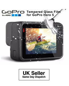 GoPro Hero 5 6 7 8 Tempered Glass Clear Protective Screen Protector Guard Film