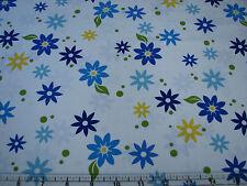 3  Yards Quilt Cotton Fabric - ITB Jason Yenter Modern Blooms Small Blue