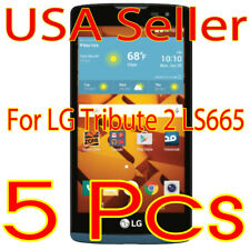 5x New  LG Tribute 2 Ls665 Screen Protector Film High Definition (HD) Clear