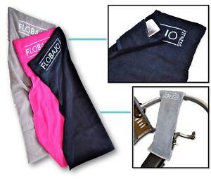 Sport- und Fitnesshandtuch, GYMTOW, 100X40cm, Set grau und schwarz, mit Tasche