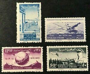 SYRIA Sc#349-50, C154-C155 Mint NH OG VF (9-144)
