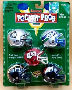 RIDDLE POCKET PROS AFC WEST RAIDERS SEAHAWKS CHIEFS CHARGERS BRONCOS NFL HELMETS
