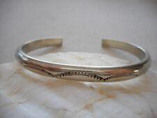 Vintage Southwest Sterling Silver Pressed Swag Design Cuff Bracelet 398814
