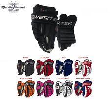 """Powertek V5.0 Hockey Gloves! Senior SR Junior JR 11"""" 12"""" 13"""" 14"""" 15"""" All Colors"""