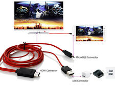 2M MHL USB to HDMI HD TV Adapter Cable For Samsung Galaxy S5 S4 S3 Note 2 3 Tab3