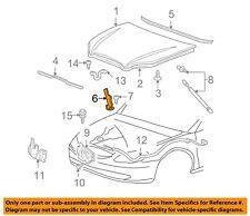 Ford 5F1Z-16797-AA Genuine OEM 00-07 Taurus Sable 3.0L V6 Left Hood Hinge