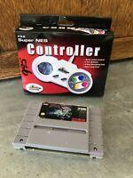 NIB Pelican Super NES SNES Controller PL-100 for Nintendo + Super R-Type Game