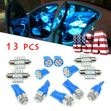 13 x LED Lights Interior Package Kit Ice Blue Dome Map License Plate Lamp Bulbs