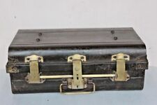 Iron Trunk Brass Lock Trunk Box Storage Old Vintage Antique Collectible BI-48
