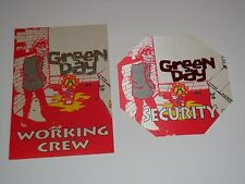 GREEN DAY 2 BACKSTAGE 1995 TICKET PASSES TOUR pass dookie Billie Joe Armstrong R