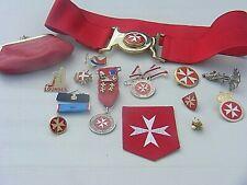 More details for order de malta lourdes medals belt etc military hospital