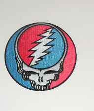 Grateful Dead Steal Your Face Embroidered iron on Patch 3 1/2""
