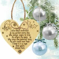 Robin Redbreast Memorial Bereavement Family Love Christmas Xmas Grave Gift Sign
