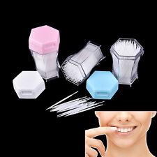 Portable 200Pcs Environmental 2 Way Oral Dental Picks Plastic Brush Toothpicks