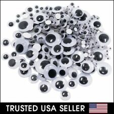 182 Pcs Assorted Sizes Wiggly Googly Eyes 7 Sizes for DIY Scrapbooking Craft Art