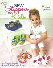 Sew Slippers for Kids Sewing Patterns Instructions Annie's Attic Fat Quarter NEW