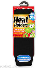 Childrens Thermal Heat Holder Socks size 9-1 Uk, 27-33 Eur, 9.5-2 us Black