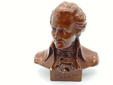 MOZART Bust Made in Italy 9 inch Vintage Brown