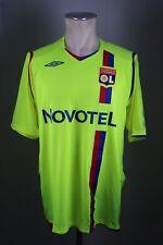 2008-09 Lyon third Trikot jersey Gr. XL Umbro Olympique Lyonnais gelb #10