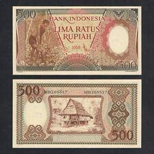 1958 INDONESIA 500 RUPIAH P-60 UNC