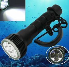 8000LM 100M Underwater 5 x Lamp XM-L T6 LED Diving Scuba Flashlight Torch Lamp