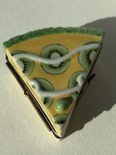 Limoges � �🥄 Pastry Tart Dessert Porcelain Hinged Box Peint Main France 🇫🇷