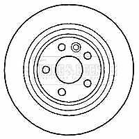BORG BBD4587 BRAKE DISC Rear