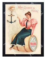 Historic Primadonna Flour, 'the Queen of Flours,' 1889 Advertising Postcard
