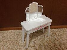 2006 Barbie Doll Dream House White Mirror Floral Vanity Bedroom Furniture Rare
