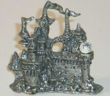 Vtg Ballena Bay Pewter Bbtc Collectable Wizard'S Castle W/Crystal Intricate!