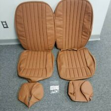 Jaguar XKE Series 2 FHC, Roadster, 2+2, Seat Covers & Headrests Perforated- Tan