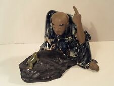 """Unusual Antique Chinese Mudman with Frog Statue 7"""""""