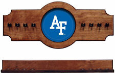 NCAA Air Force Falcons 2 pc Hanging Wall Pool Cue Stick Holder Rack - Pecan